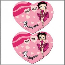 2 sets de table Betty Boop Coeur