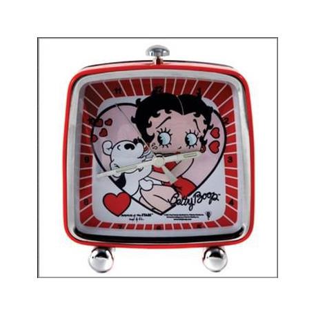 Reveil carre Betty Boop Coeur
