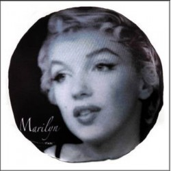 Coussin rond Marilyn Monroe Legend