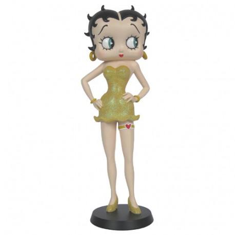 Statuette Betty Boop Jarretière Gold