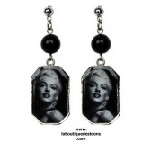 Boucle d'oreilles Marilyn Monroe for ever