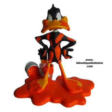 Statuette Daffy Anatra Pittura