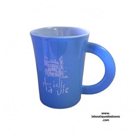 "Mug ""Plus belle la vie"" Bleu Ciel"