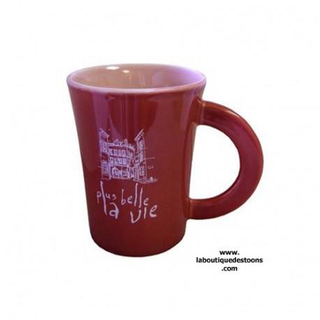 Mug ''Plus belle la vie'' Rouge