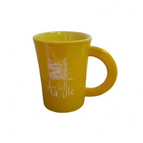"Mug ""Plus belle la vie"" Jaune"