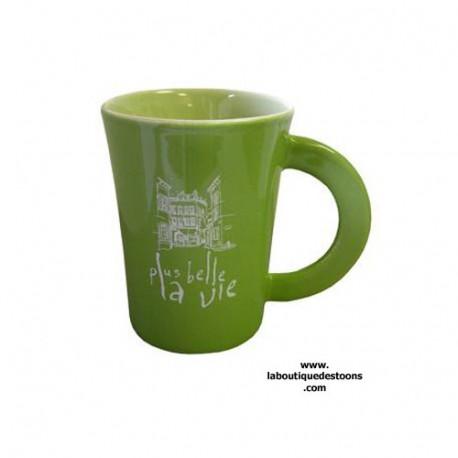 Mug ''Plus belle la vie'' Vert