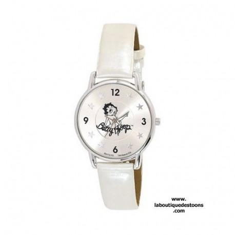 Montre Betty Boop étoiles bracelet blanc