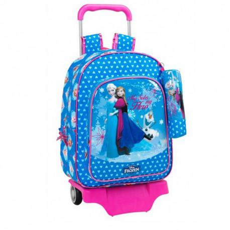 Trolley bag Frozen 42 CM trolley snow Queen heart top of range + Kit - Binder