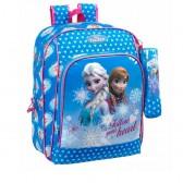 Sac à dos Frozen la reine des neiges Coeur 41 CM Haut de Gamme + Trousse