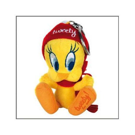 Porte clés Titi peluche bonnet rouge