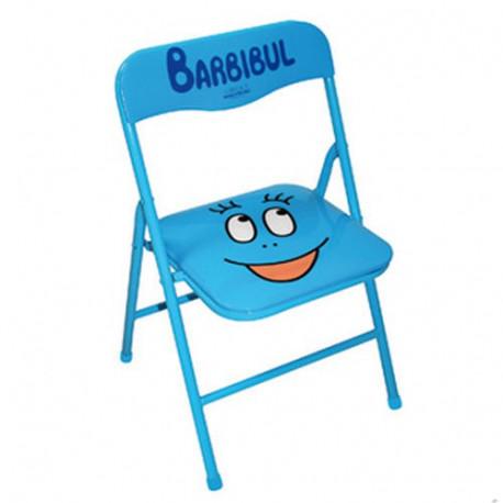 Silla de niño plegable azul Barbibul