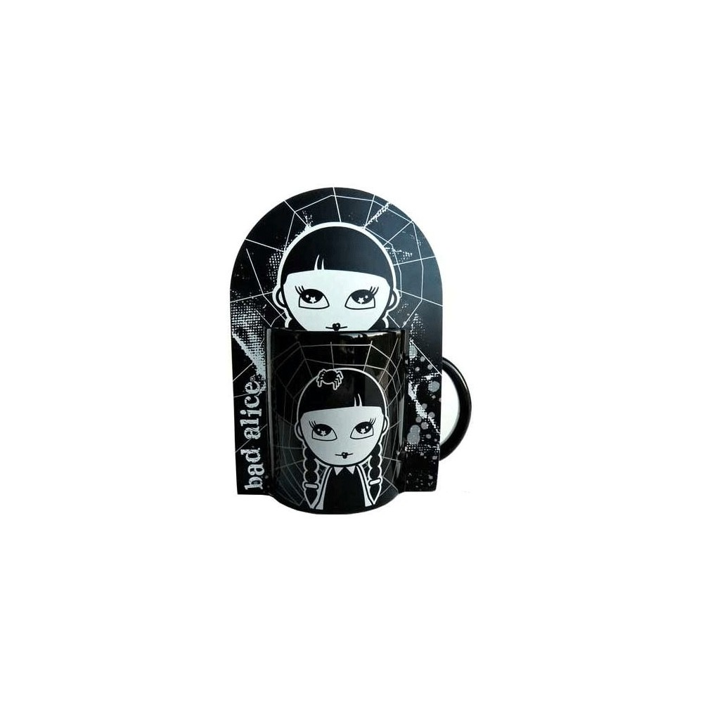 mug bad alice noir blanc la boutique des toons. Black Bedroom Furniture Sets. Home Design Ideas
