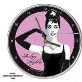 Horloge ronde Audrey Hepburn