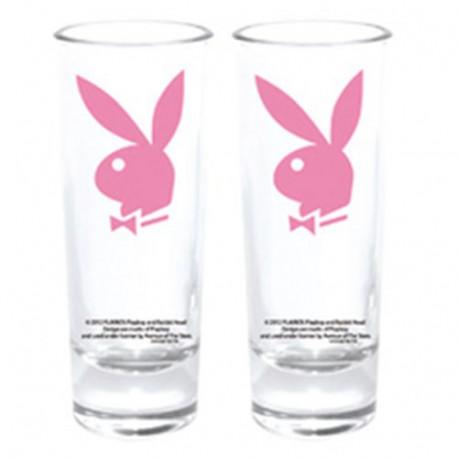 Mini-Glas Playboy Bunny Rosa