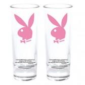 Mini pink Playboy Bunny glass