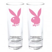 Mini verre Playboy Bunny rose
