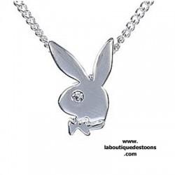 Collier Playboy Bunny chrome