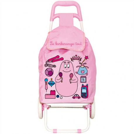 Caddie marché Barbapapa modèle enfant rose