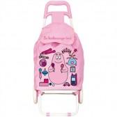Compras carrito mercado modelo Barbapapa niño rosa