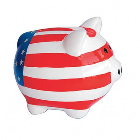Tirelire cochon Drapeau USA