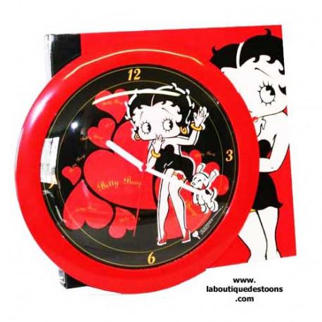 Betty Boop heart red clock