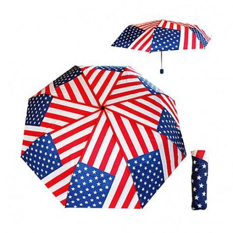 Umbrella foldable USA flag