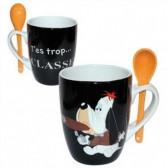 Mug conique + cuillère Droopy