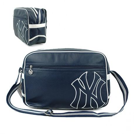 Sac bandoulière New York Yankees marine 38 CM Style Cuir