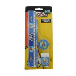 Set scolaire Bart Simpson bleu