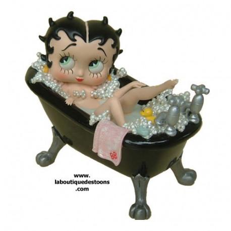 Statuette Betty Boop baignoire Noire Grand modèle