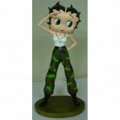 Statuette Betty Boop Militaire