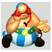 Beeldje denker - Asterix Obelix