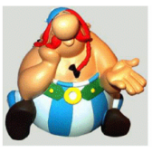 Pensatore di figurina - Asterix Obelix
