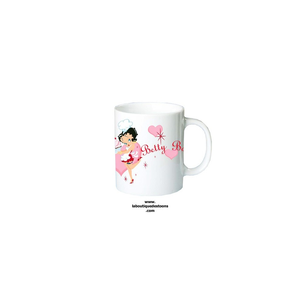 mug blanc betty boop g teau la boutique des toons. Black Bedroom Furniture Sets. Home Design Ideas