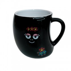 Mug Barbamamá black flowers