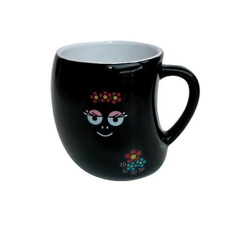 Mug Barbamamá black flowers