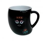 Mug Barbamama noir Fleurs