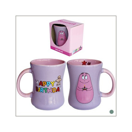 "Mug relief Barbapapa ""Happy Birthday"""