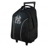 Sac à roulettes 45 CM New York Yankees Noir Haut de gamme