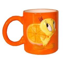Tazza arancione Tweety