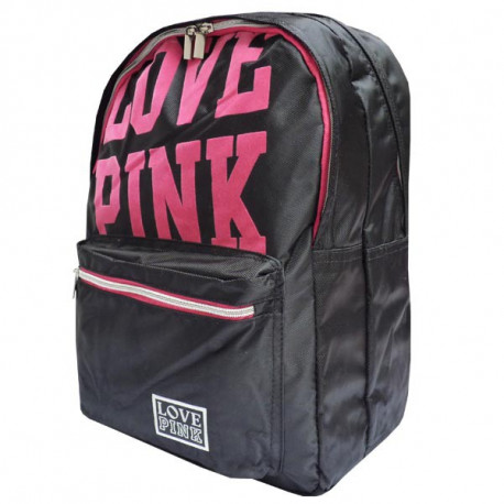 Love Pink Black Backpack 43 CM
