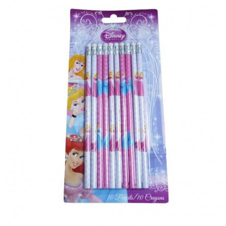 10 crayons de bois Princesse