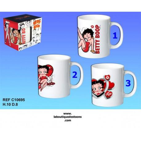 Mug Betty Boop blanc - Numéro de Modèle : Modèle n°3
