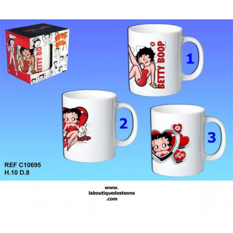 Mug Betty Boop blanc - Numero de Modele : Modele n3
