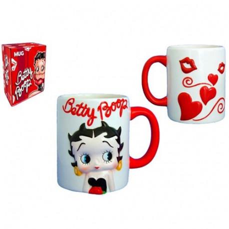 Mug Betty Boop Coeur blanc