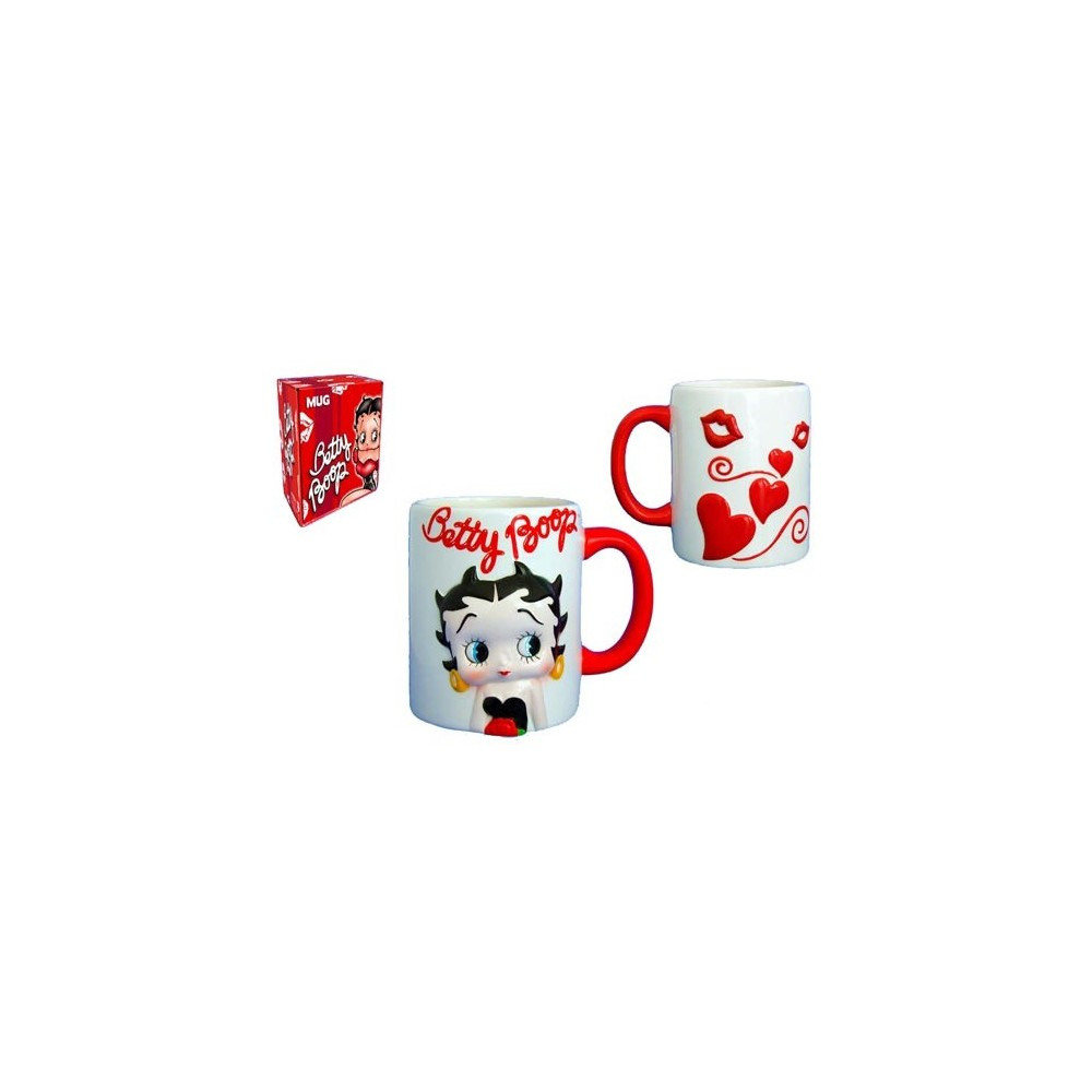 mug betty boop coeur blanc la boutique des toons. Black Bedroom Furniture Sets. Home Design Ideas