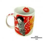Mug Betty Boop Moto Blanc