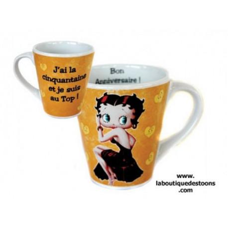 Mug Conique Betty Boop la cinquantaine