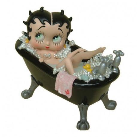Statuette Betty Boop baignoire noire