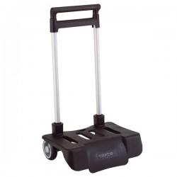 Chariot à roulettes Pliable Noir pour cartable